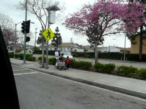 Driving through  Inglewood , Los Angeles CA