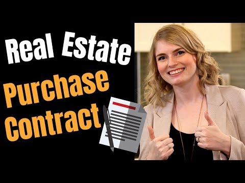 How does a real estate purchase contract work?