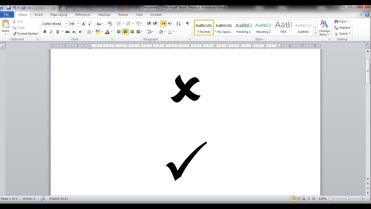 How To Bring The Tick Symbol Or Check Mark In Ms Word Youtube