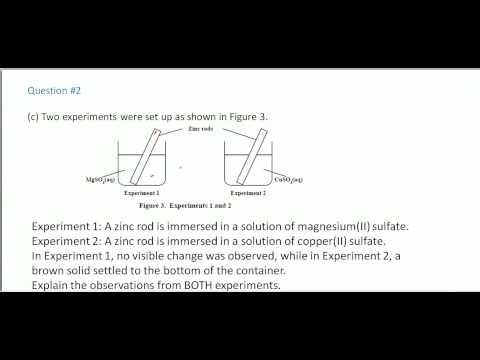 CSEC Chemistry - January 2014 Questions 2,3,4