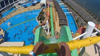 Scary Fall Water Slide at The Ocean Waterpark