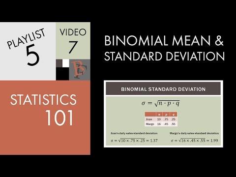 Statistics 101: Binomial Mean and Standard Deviation