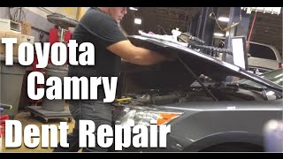 Dent Removal Toyota Camry Hood Repair