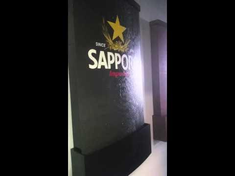 Sapporo Drink water walls- Wasserwand