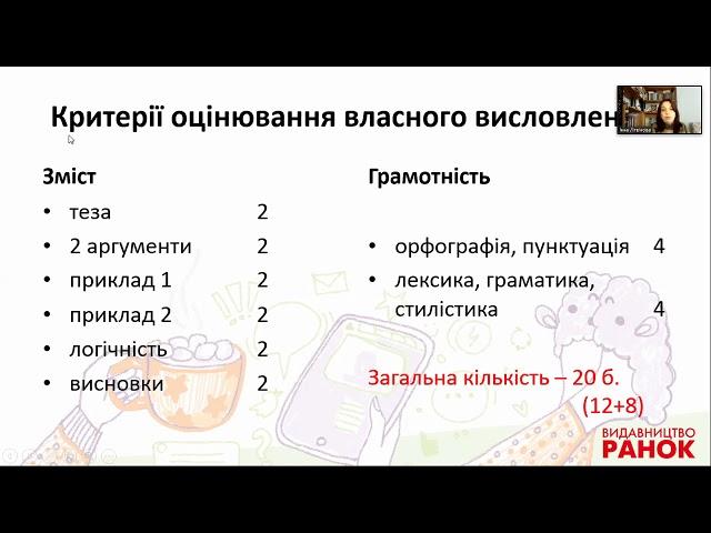 10-11 класи. Фінальний етап підготовки до ЗНО з української мови. Заняття 4