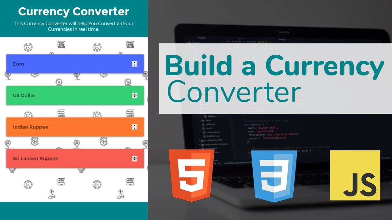 Currency Converter Using Html Css