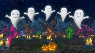 Five Little Ghosts | Halloween Cartoons for Children | Nursery Rhymes by Little Treehouse
