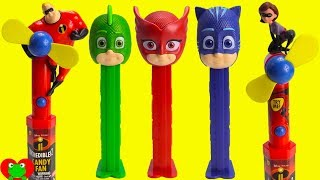 PJ Masks Pez Candy Dispensers, Twin Hatchimals, The Incredibles 2 Candy Fans