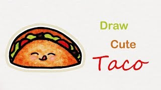 How to draw a cute Taco | Step by step art for kids