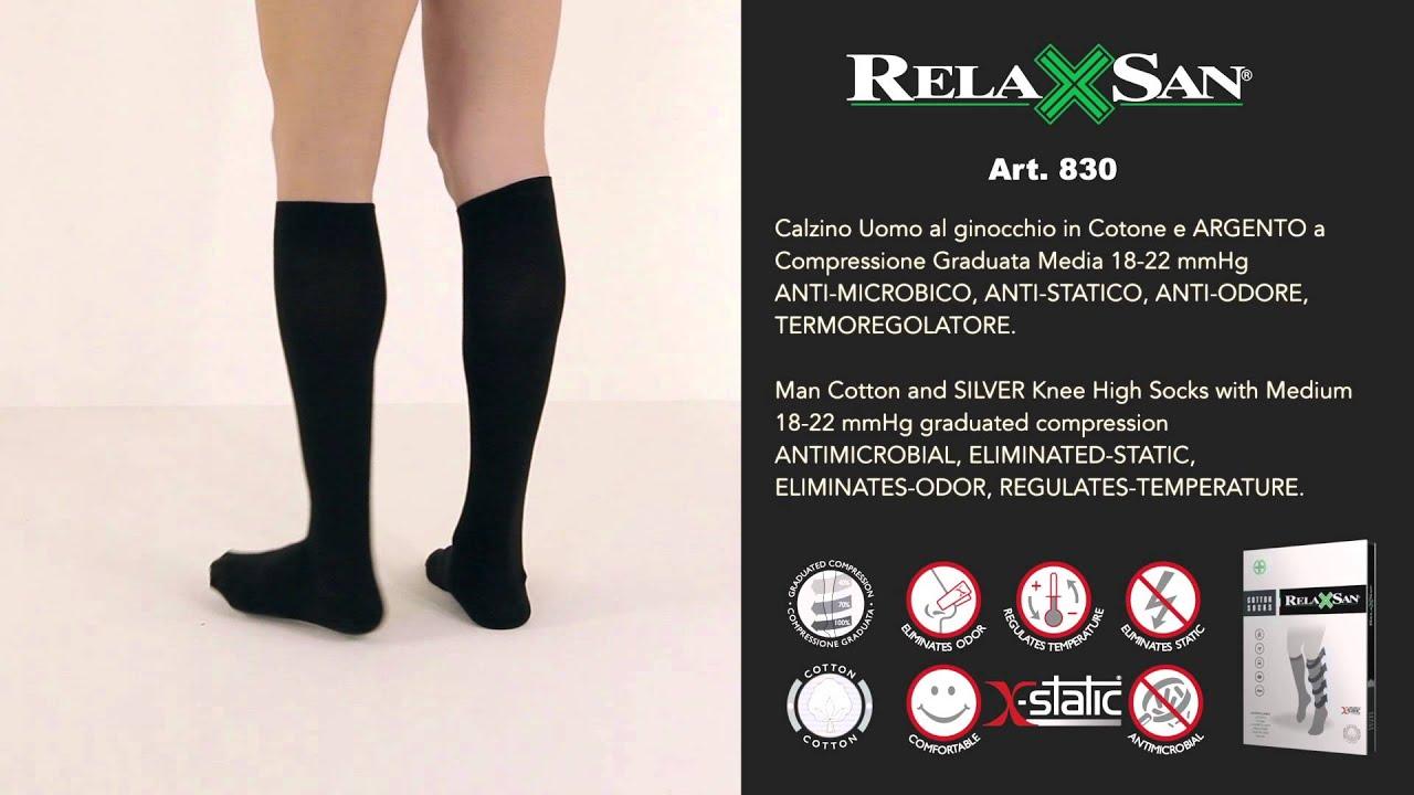 Calze Lunghe cotone Relaxsan Compressione Graduata 22-27 mmHgRELAXSAN COTTON