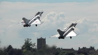 French Rafale jet duo - the wow factor at Yeovilton Airday