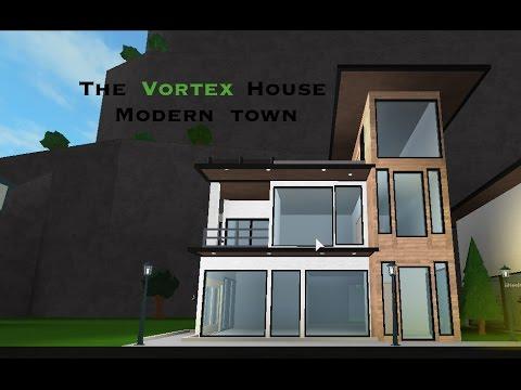 Bloxburg speedbuild The Vortex House! Modern Town Part 3