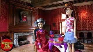 Золушка видео с куклами принцесса  Мачеха злая Гризелла и новое платье Видео для девочек