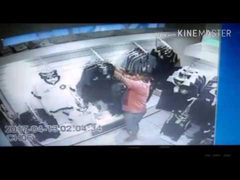 Casal rouba camisas na loja do clube do Remo em Belém do Pará