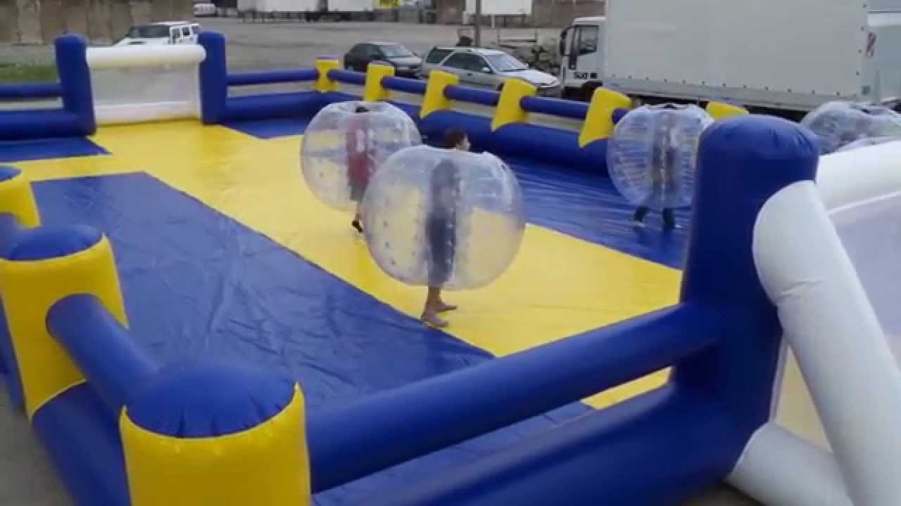 Bubble Football Fussballfeld