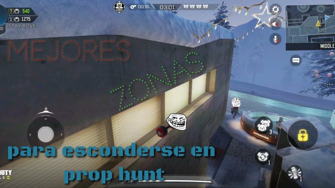 MEJORES ZONAS PARA ESCONDERSE EN PROP HUNT | CALL OF DUTY: MOBILE
