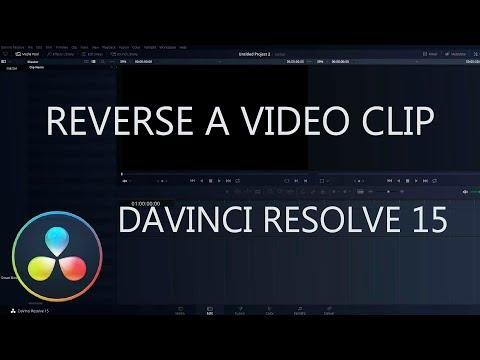How to Reverse Video Clip in DaVinci Resolve