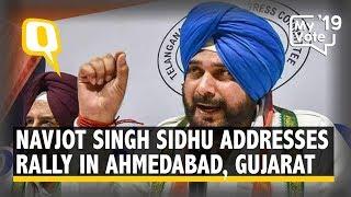 Navjot Singh Sidhu Addresses a Rally in Ahmedabad, Gujarat