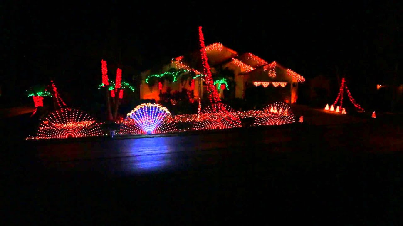 Animated christmas lights - Light Up Florida 2014 Animated Christmas Lights Display 1080p