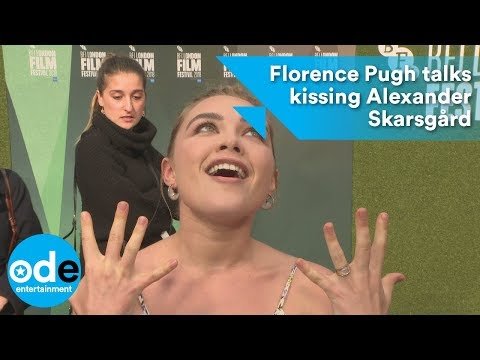 Florence Pugh talks kissing Alexander Skarsgård
