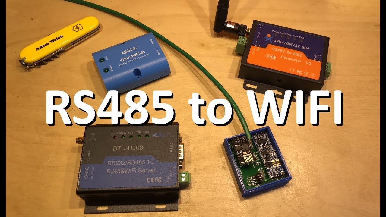 Solar Charge Controller RS485 WiFi Adapter Shootout - 12v Solar Shed