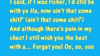 glee forget you lyrics