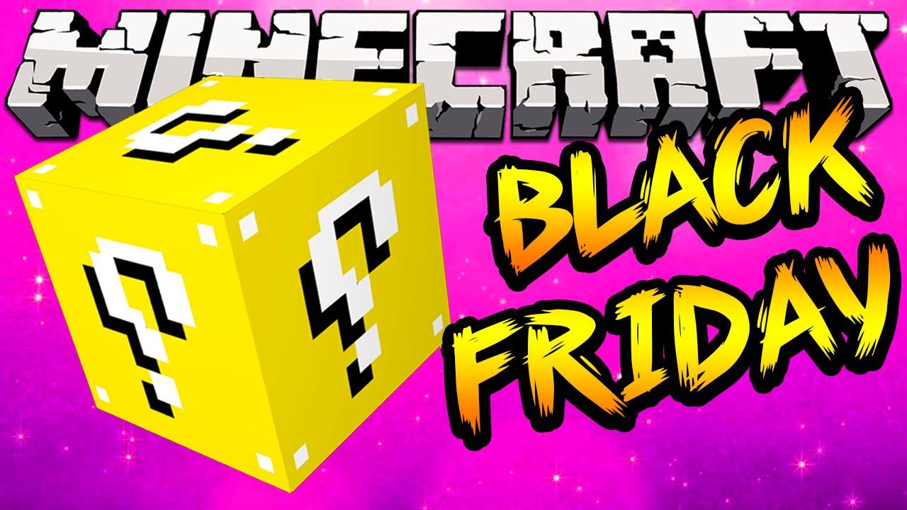Minecraft Black Friday Lucky Blocks! (Minecraft Black Friday Deals) w/  Lachlan, Vik, Bodil & Simon