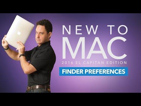 New to Mac: Finder Preferences [El Capitan]