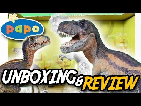 Papo® Dinosaur Box (2015) | T. rex & Velociraptor | ToysRUs Exclusive | Unboxing & Review