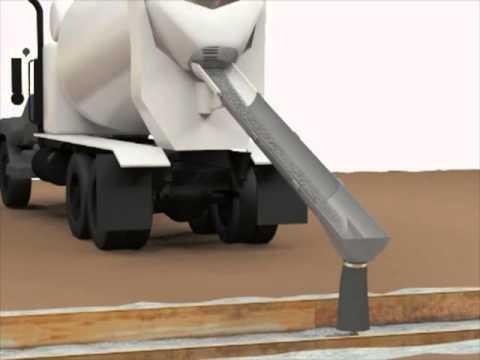 Concrete Mixer Truck >> James J. Galvin, IV   Concrete Dispensing Chute Extension - YouTube
