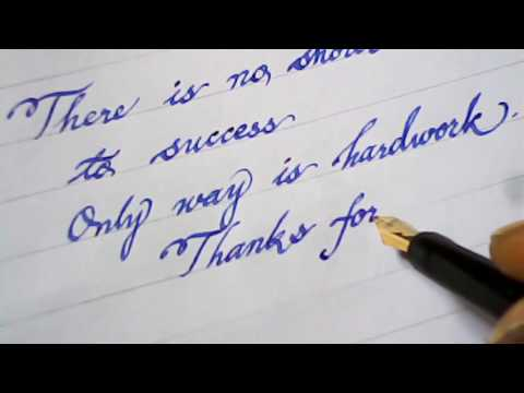 Awesome Hand writing with fountain pen | Mazic writer
