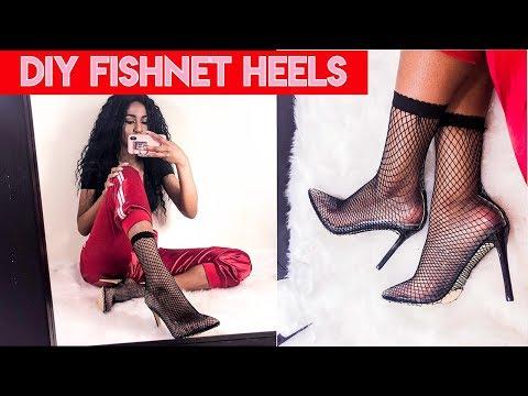 DIY FISHNET HEELS (PUBLIC DESIRE DUPE!) - TEEZY VALENTINE EP. 8 | TEHJA