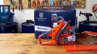 UNBOXING Chainsaw Husqvarna 135