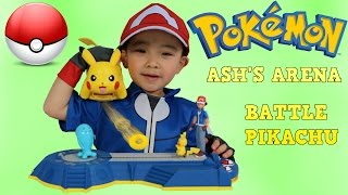 Pokemon Toys Unboxing Ash's Arena Challenge and Battle Ready Pikachu Opening Fun Ckn Toys