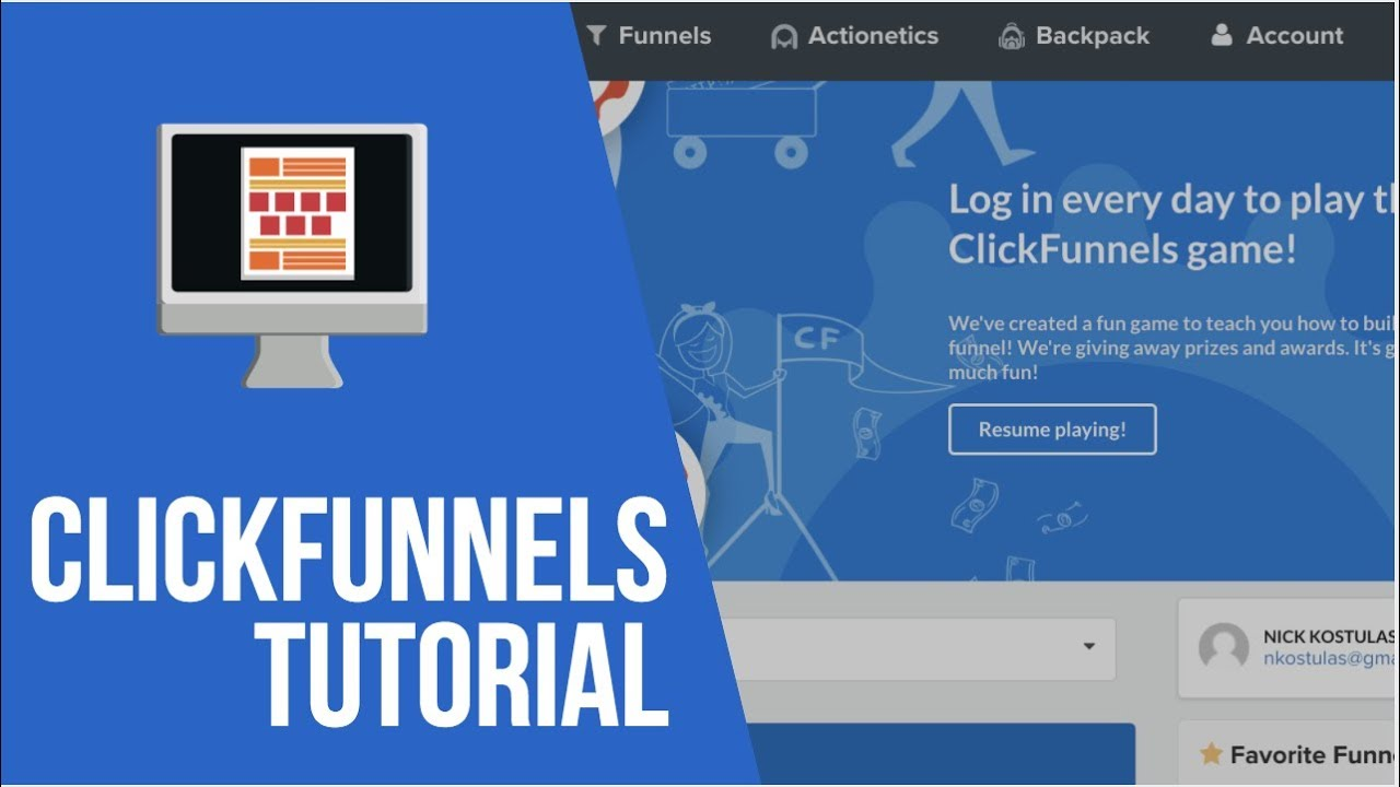 Free Click Funnels Tutorial - How To Build Your First Click Funnel
