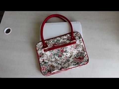 Como fazer uma bolsa ou pasta  fácil e descomplicada   para notebook