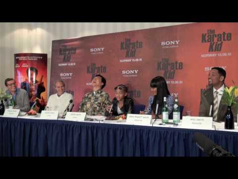 The Karate Kid (2010) Press Conference in Oslo -- PART ONE