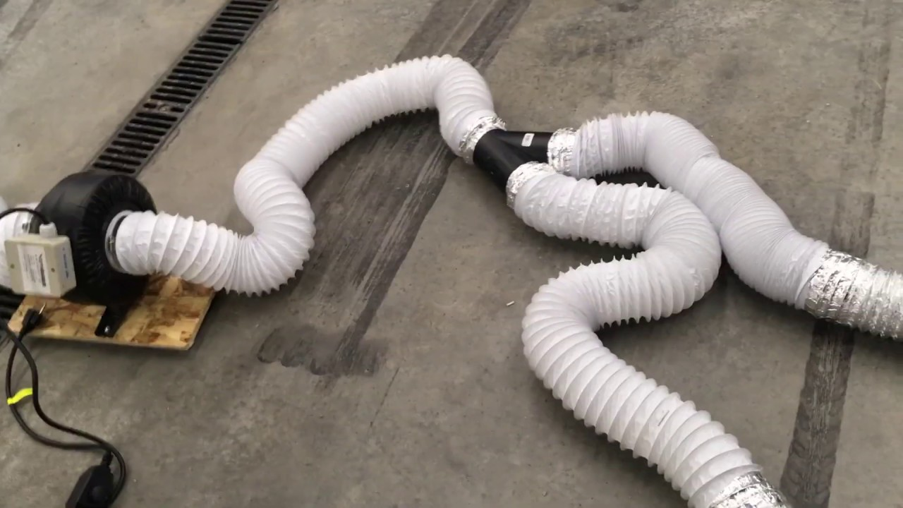 DIY garage fume / exhaust extractor vent