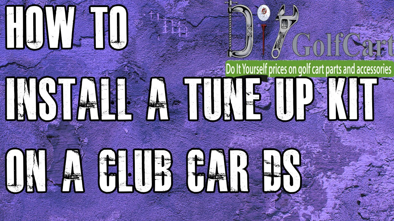 hight resolution of club car ds tune up kit starter drive belt how to install on golf cart youtube