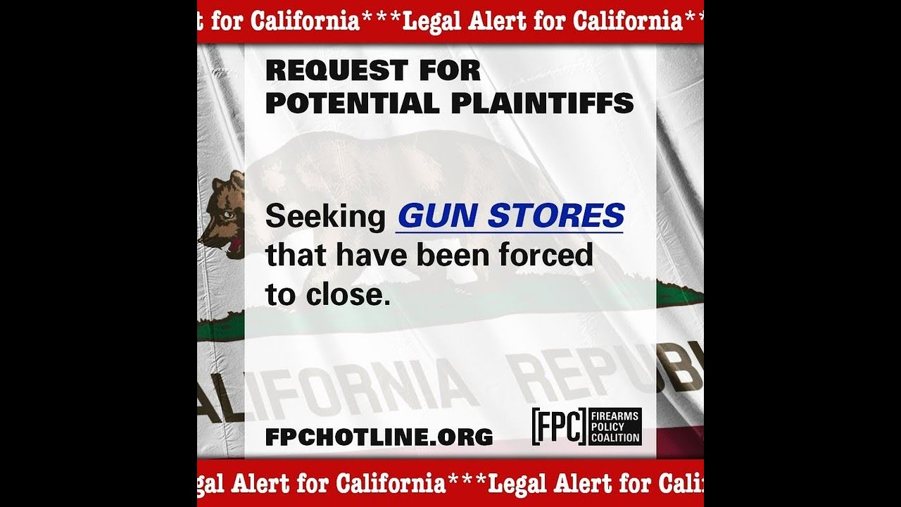 Firearms Policy Coalition Looking For Plaintiffs In Several States