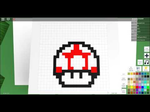 How To Draw A Mushroom From Mario In Pixel Art Creator Roblox