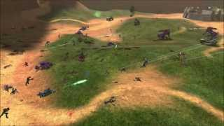 Halo: Combat Evolved - Marines vs Covenant on Blood Gulch