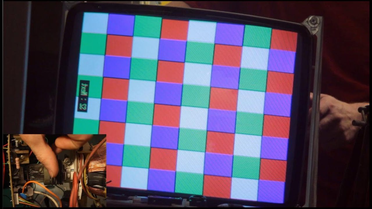 Fix It Friday Adjusting Convergence Rings On A Cathode Ray Tube Simple Diagram Inside Crt Monitor Tv And Arcade