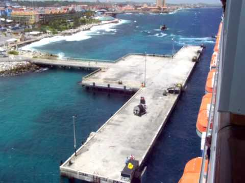 Carnival Freedom docking in Curacao 6-5-13