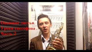 Уроки саксофона.  Опавшие листья.  Часть 2