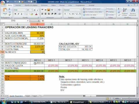 LEASING FINANCIERO-CASO