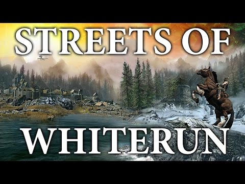 (HQ Reupload) Skyrim - The Streets Of Whiterun Remake