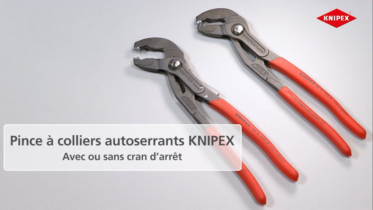 Knipex pince colliers autoserrants cran d arr t 85 51 - Pince collier auto serrant ...