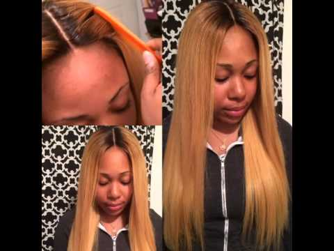 Natural Straight Middle Part Lace Closure After Color To 27