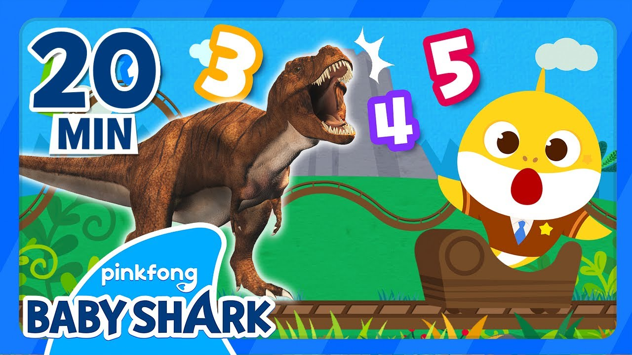 Learn Numbers with Baby Shark and Dinosaurs! | +Compilation | Numbers for Kids | Baby Shark Official